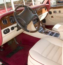A clean interior in a 1996 Bentley.